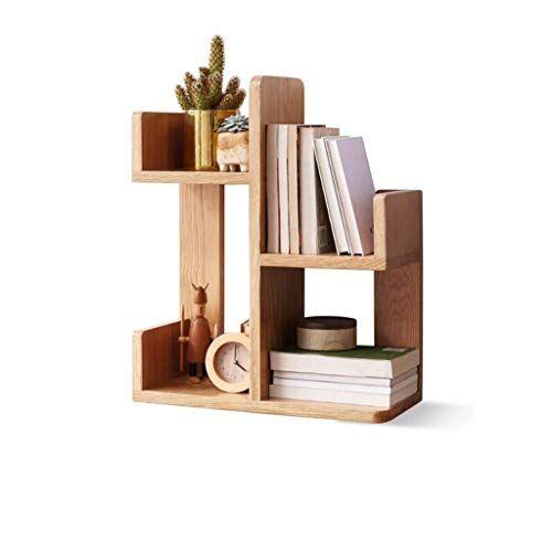 Hongteng Solid Wood Shelf Nordic Simple Storage Rack Desk Bookcase Oak Desktop Simple Small Bookshelf Color Solid Wood Shelves Wood Shelves Small Bookshelf