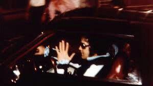 Elvis in his 1973 Black Stutz Blackhawk