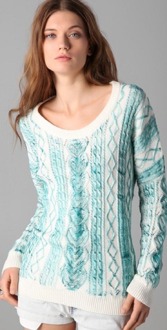 Google : suéter tejido a mano