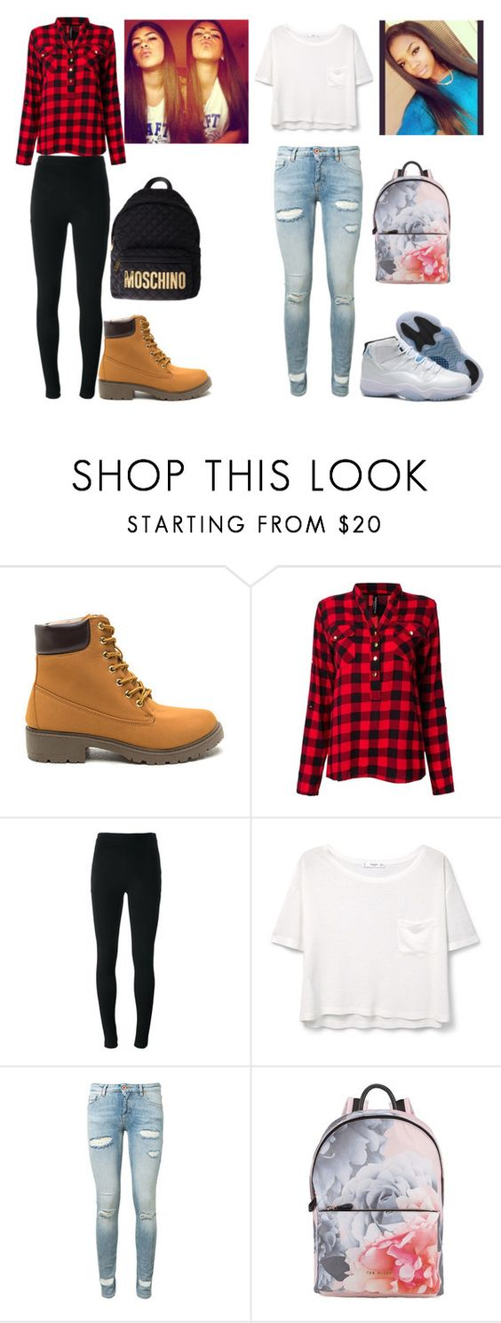 """Untitled #142"" by jaliyahk on Polyvore featuring Givenchy, MANGO, Off-White, Ted Baker, Moschino and Retrò"
