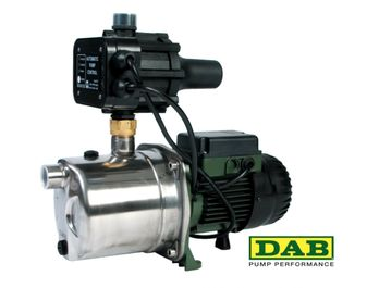 DAB JINOX132MPCX Self Priming Jet Pump  IDEAL FOR: Clean or rainwater in a 3 to 4 storey dwelling or similar with up to 8 taps or outlets. This pump will automatically start up when a tap is opened and will turn off again with a slight delay after the tap has closed. It can be used for drinking water, filling up toilets, washing machines, dishwashers, kitchen taps, showers, irrigation systems or watering the garden. - $700