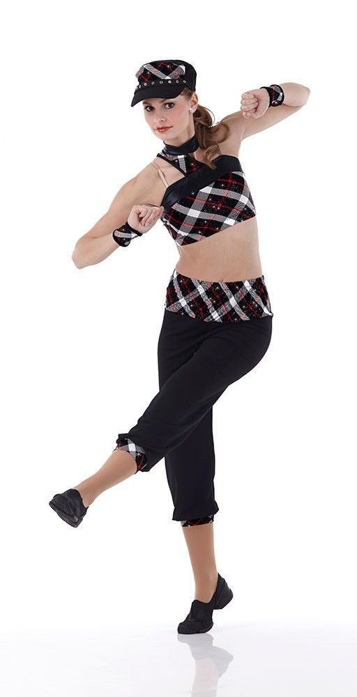 BREAK IT DOWN Crop Top & Pants Jazz Tap Baton Dance Costume Child & Adult Sizes #Cicci