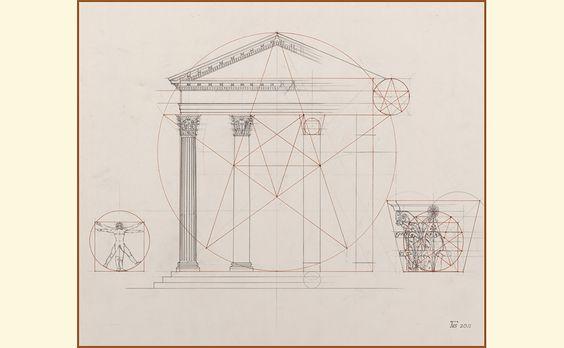 科林斯Templefront几何研究