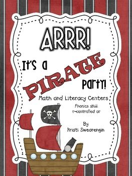 It's a Pirate Party! Math and Literacy Centers that go with frog & toad: the garden