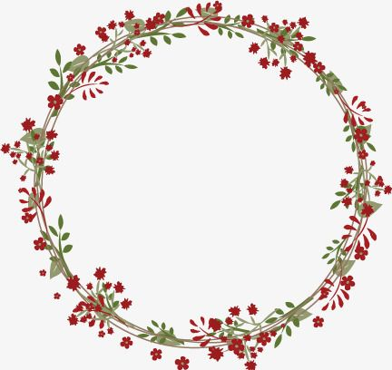 Red Flowers Garland Red Floral Wreath Png Transparent Clipart Image And Psd File For Free Download Wreath Drawing Flower Frame Wreaths