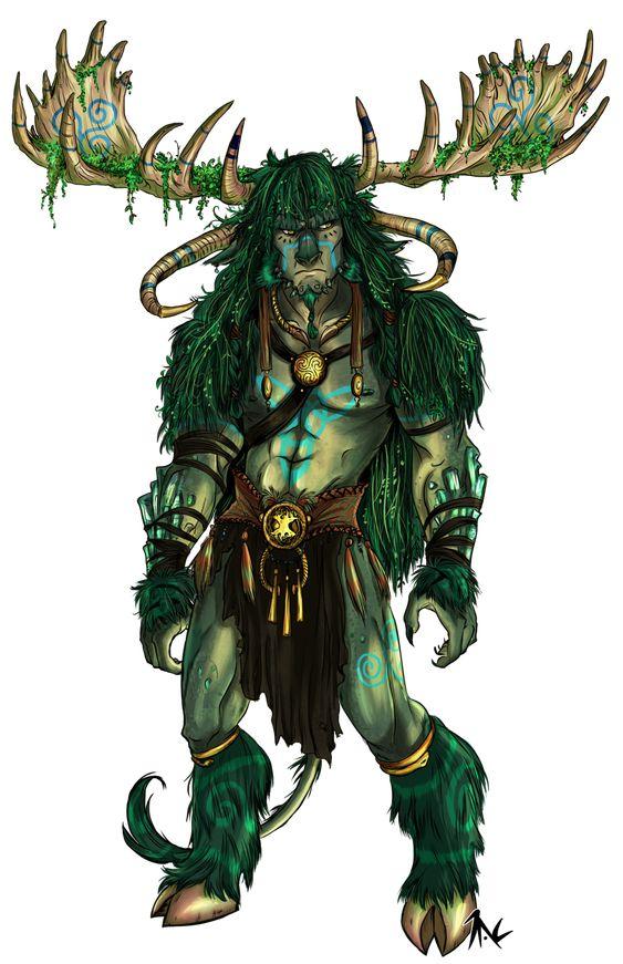 ELEMENTS Earth Dragon- Cernunnos by ElementJax