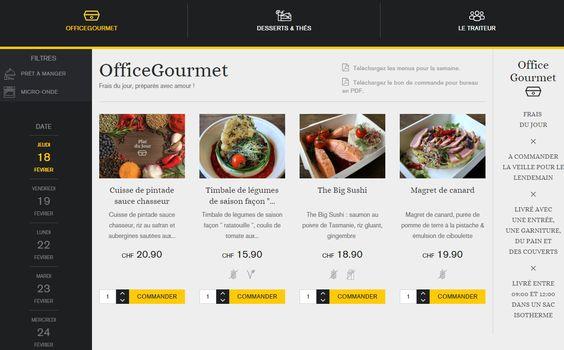 Menu OfficeGourmet 18/02/2016 - Votre menu au bureau dans les cantons de Vaud et Genève du Jeudi 18 février
