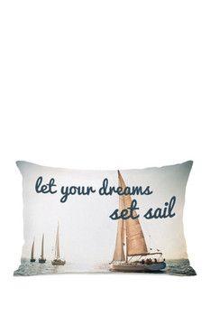 Let Your Dreams Set Sail Pillow by OBC - Multi