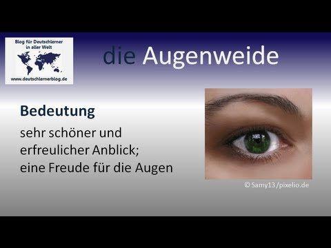 die Augenweide   Beispiele:  1) Sie ist so schön, sie ist wirklich eine Augenweide 2) Es ist eine Augenweide zu sehen, wie schön er mit seinerkleinen Schwester spielt. 3) Welch eine Augenweide.  deutschlernenblog.de