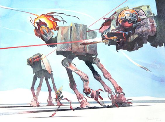 AT-AT WALKERS, Hermann Mejia - Star Wars Tribute Exhibition to the Classics, Nucleus Art Gallery