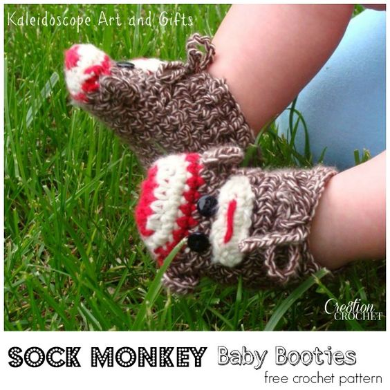 Free Crochet Pattern Sock Monkey Slippers : Sock monkey baby, Free crochet and Monkey on Pinterest