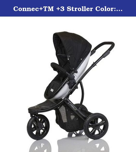 Connec+TM +3 Stroller Color: Blue. G+GC3BLUE Color: Blue Features: -Product Type:Jogging strollers -Color:Beige -Color:Black -Color:Blue -Color:Multi-Colored -Color:Purple -Color:Red -Distressed:No. Dimensions: -Overall Width - Side to Side:27 -Overall Depth - Front to Back:36 -Overall Product Weight:29.