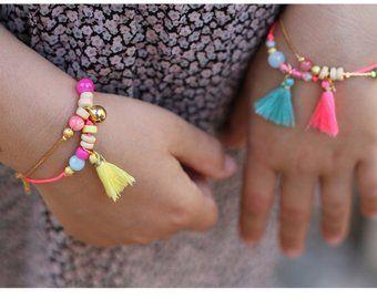 Bracelet Bonbon For Little Girls With Images Little Girl Jewelry Kids Jewelry Girls Jewelry
