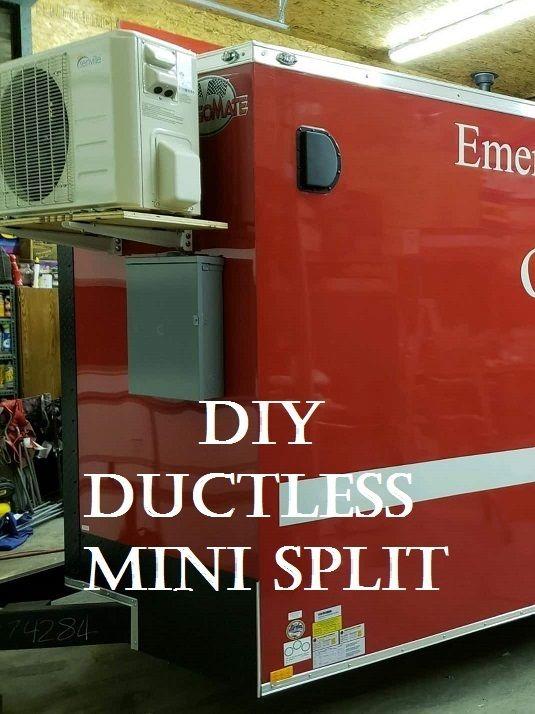 Diy Mini Split Ac For My Food Truck Mini Split Ac Ductless Mini Split Food Cart