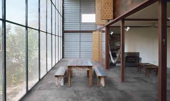 Grey loft and design on pinterest for Carrelage loft