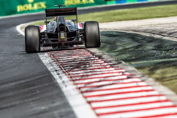 Sutil on the curbs in Hungary