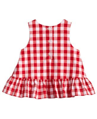 BABY GIRLS SIZE 12 MONTHS NEW NWT TWO PIECE PLAID COLLARED TOP /& SHIRT PRINCESS