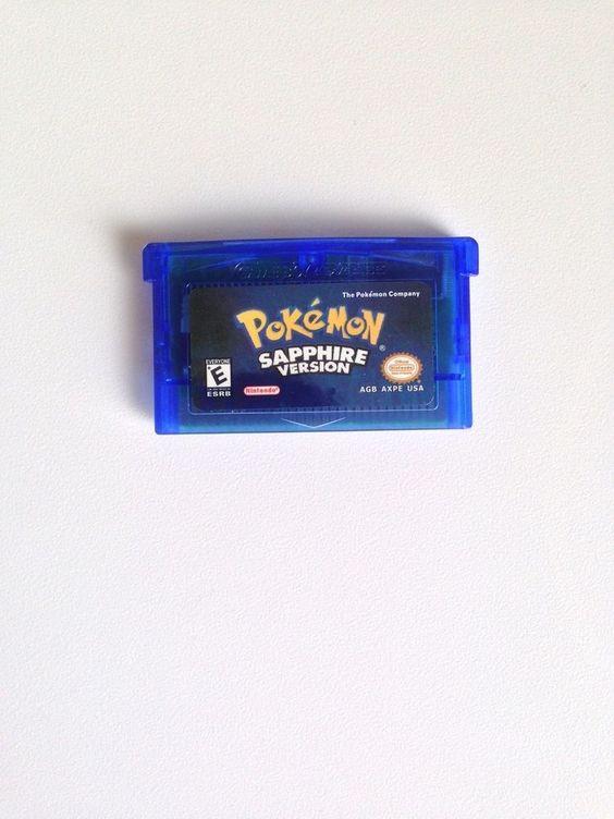 Pokemon Sapphire Version Nintendo Game Boy Advance 2005 GBA USA English Cart