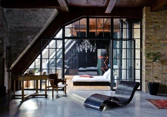 #cityloft #contemporary #eclectic #Europe #exposedbrick #glass #Hungary #naturaltones #wood #loft #decor #architecture #decoração #arquitetura #interior #budapeste