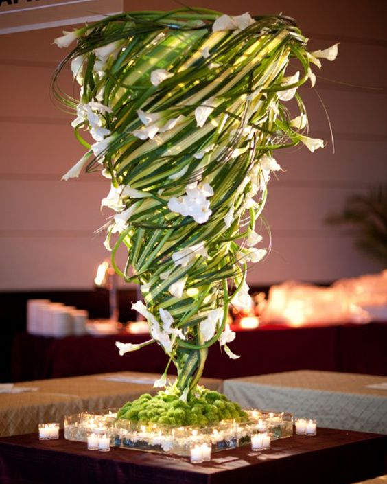 Centerpieces tall centerpiece and a flower on pinterest