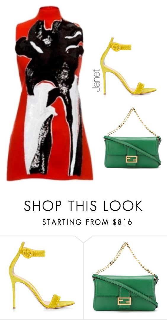 """Unbenannt #1090"" by janetplanet ❤ liked on Polyvore featuring Marni, Gianvito Rossi and Fendi"