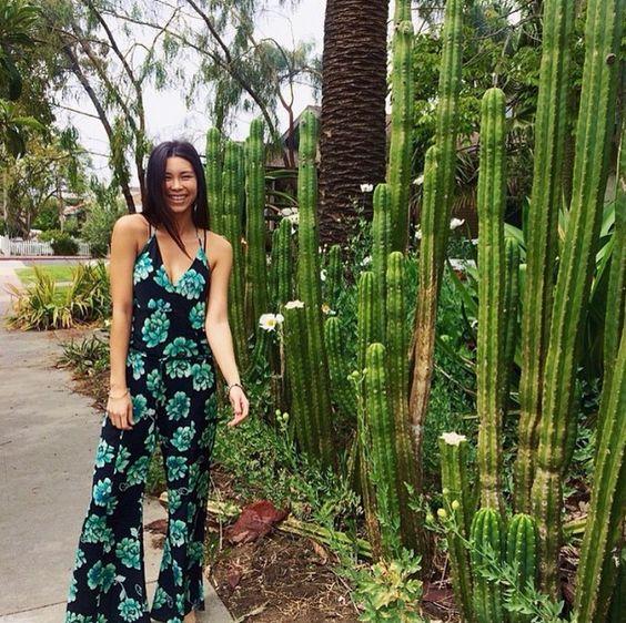 SOFIA by ViX Paula Hermanny- Bardot Jumpsuit- Floral Jumpsuit