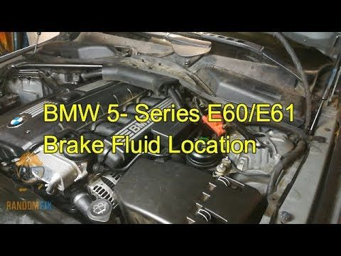 Bmw 5 Series E60 E61 Brake Fluid Reservoir Location 2003