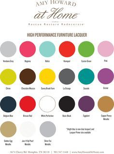 Image result for amy howard lacquer spray paint chart