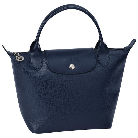 Longchamp — Veau Foulonné in Night Blue