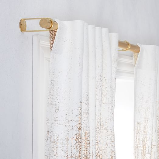 Echo Print Curtains Set Of 2 Gold Dust Printed Curtains