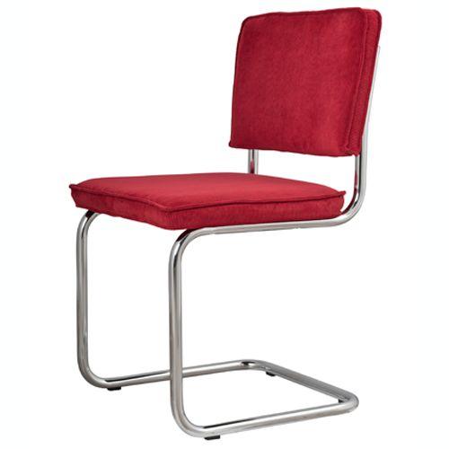 Zuiver Stoel Ridge Rib rood (meerdere kleur verkrijgbaar) met stoer metalen frame. Met heerlijk zitcomfort! Zen Lifestyle is gevestigd in Wijchen,  heeft showroom van 10.000 m². Natuurlijk vind je in onze winkel onze eigen producten, zoals ons aanbod vintage en retro banken, onze topsellers, zoals het vintage tv-dressoir Stan. Maar ook hebben wij de mooie collectie van Zuiver en Duchtbone en vind je er nog veel meer topmerken, zoals Be Pure, JouwMeubel, UrbanSofa, Fatboy, Makkii, Woood etc.