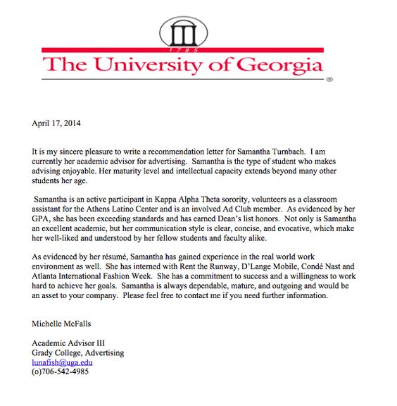 Cover Letter for Turner Broadcasting, NCAA Digital Post Grad - sorority recommendation letter
