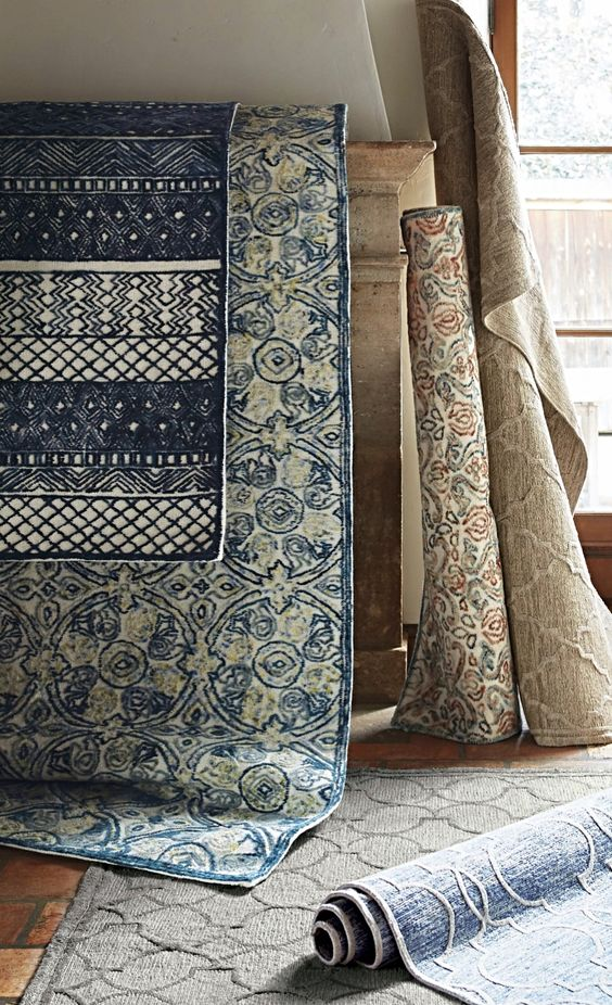 With detailed designs and dramatic high-low texture, these rugs provide a luxurious underfoot feel for a variety of conceivable spaces.
