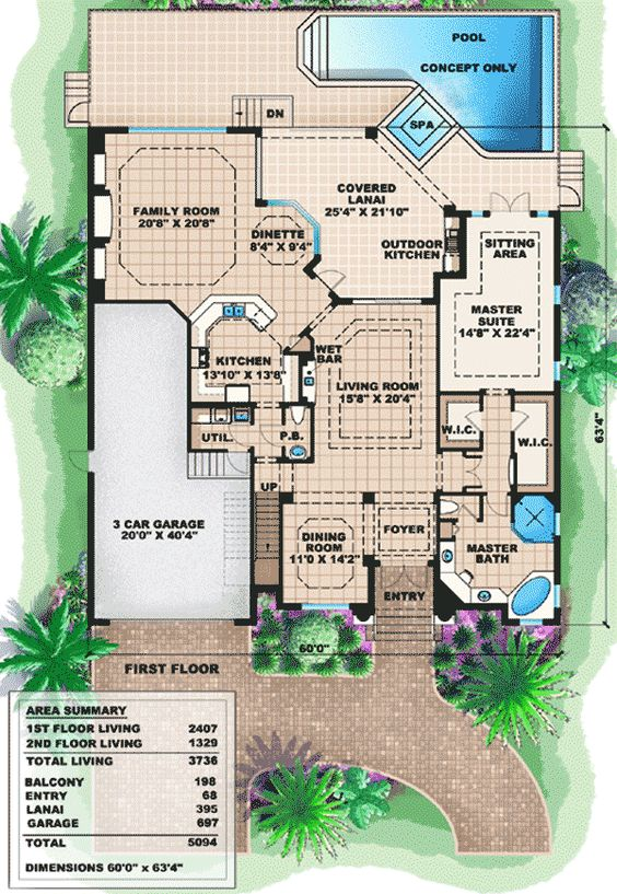 Pinterest the world s catalog of ideas for One story mediterranean house plans