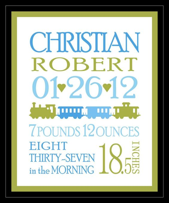 Jumbo Birth Announcement Template An Adorable Design With A Jumbo