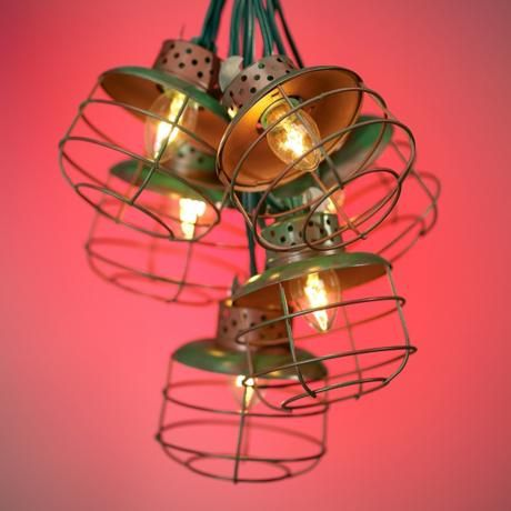 Recycled materials, Metals and Outdoor chandelier on Pinterest