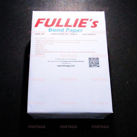 Buy A6 Printer Copier Bond Paper 500 Sheets (COD) | Fontaga