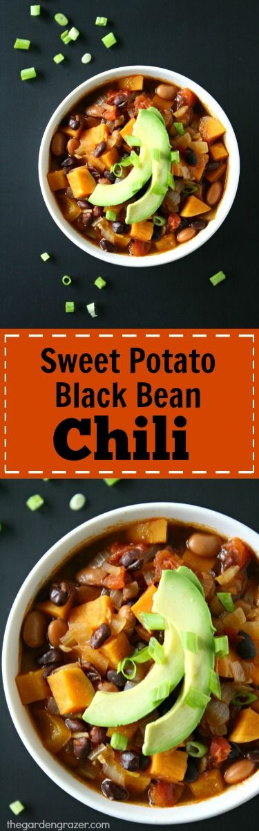 favorite chili!! EASY Sweet Potato Black Bean Chili spiked with cumin ...