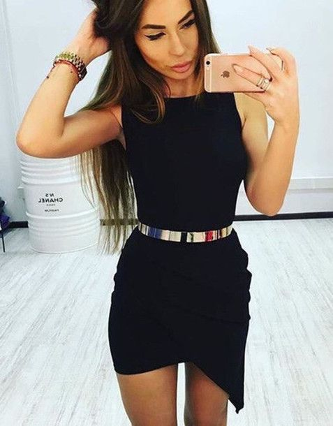 dress zefinka party dress little black dress clubwear black dress mini dress…