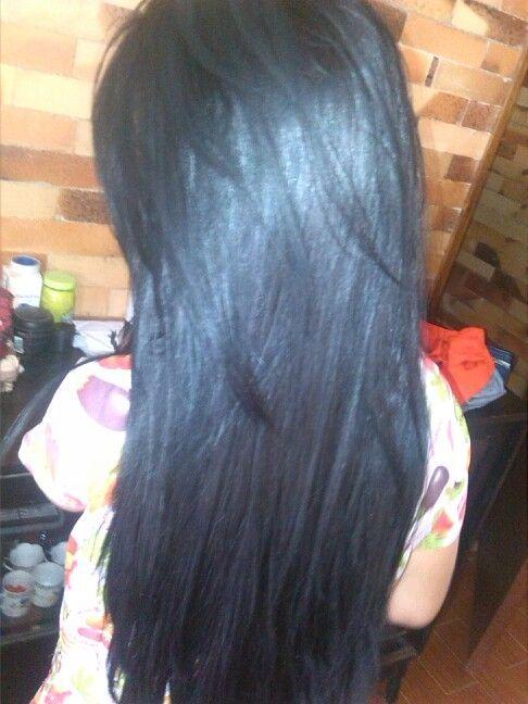 Cabello Negro Liso Peinados Pinterest