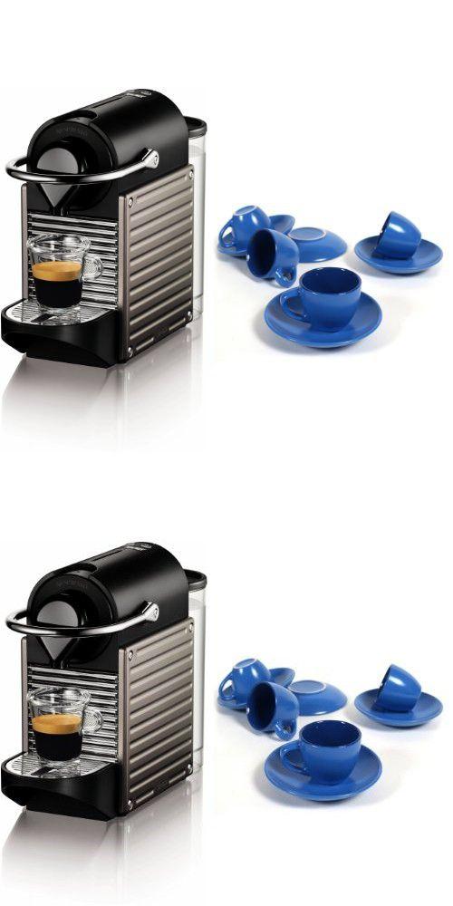 Nespresso C60 Pixie Electric Titan Automatic Espresso Machine with ...