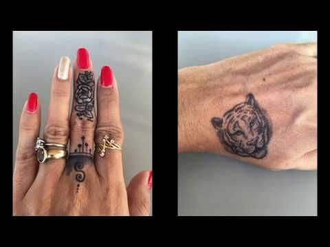 Easy Beautiful Tiger Tattoo For Kids With Jagua Gel Small Finger Tattoo Designs Youtube Small Finger Tattoos Finger Tattoo Designs Tattoos For Kids