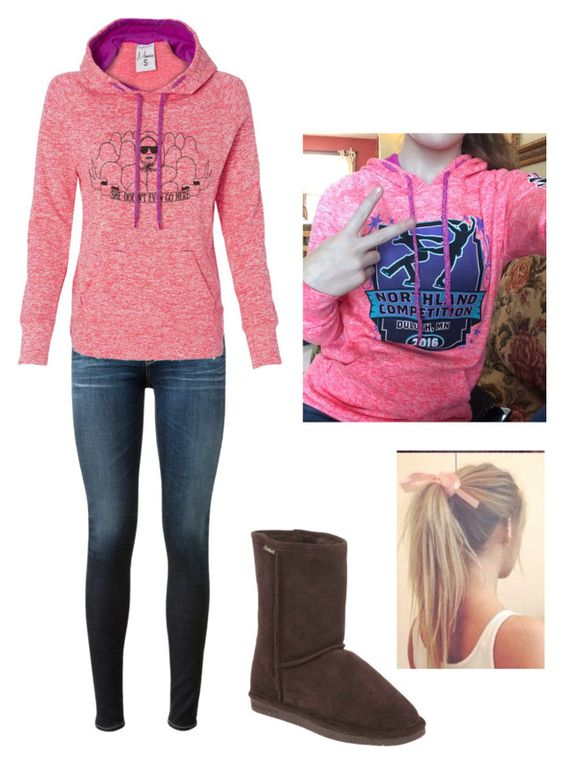 """""""Ootd"""" by ivoryvixen ❤ liked on Polyvore featuring AG Adriano Goldschmied, Bearpaw, women's clothing, women, female, woman, misses and juniors"""