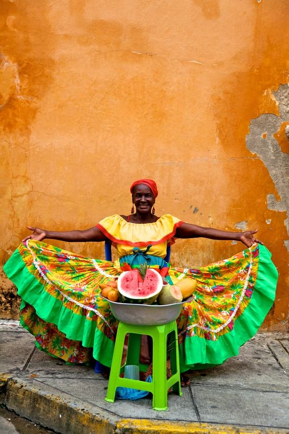 Fruit Lady - Cartagena Colombia by Neil  Tan