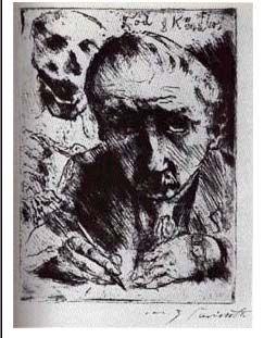 Lovis Corinth: Tod und Künstler 1921