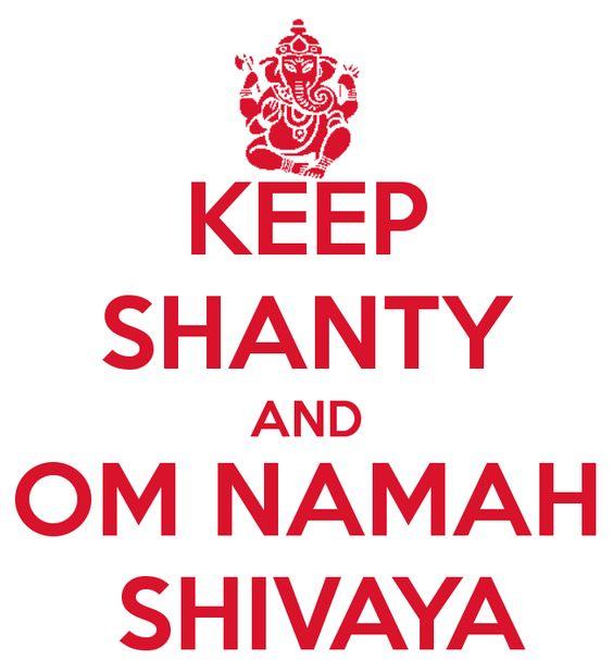 KEEP SHANTY AND OM NAMAH SHIVAYA - KEEP CALM AND CARRY ON Image ...