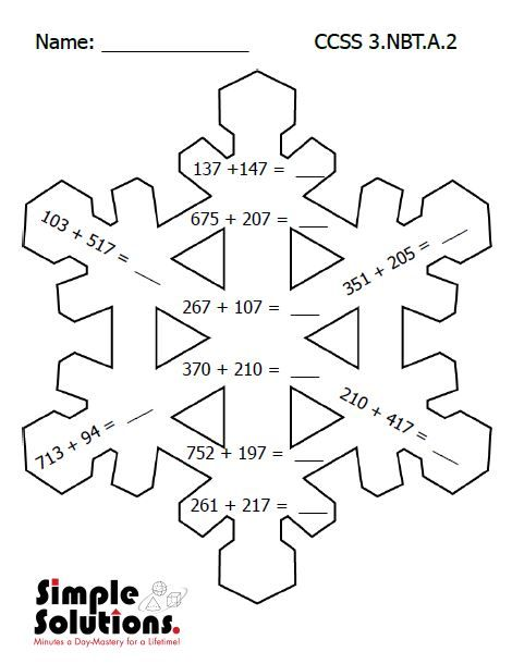 Printables Math For Third Graders Worksheets third grade math worksheet free download snow ccss http http