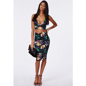 #MISSGUIDEDAW14 #autumn #floral #co-ords #plunge #pencilskirt