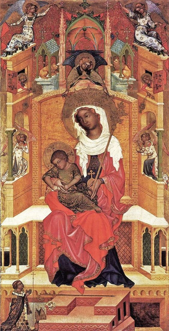 Unknown Master, Bohemian (active 1350s). Virgin and Child Enthroned