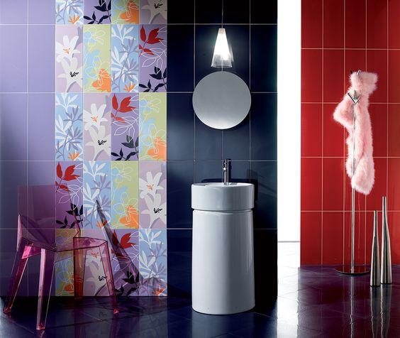 Rivestimento #bagno #ceramica fioranese simplefizzy lilla rosso ...